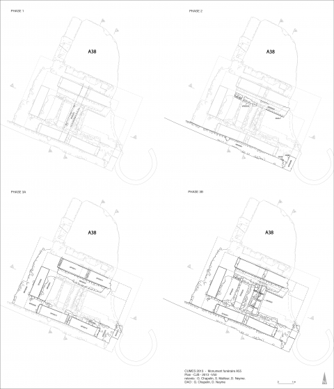 Fig. 9 - Cumes. Plans de phasage de la Zone 55.