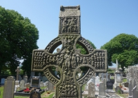 East face of the head of the early tenth century Muiredach's Cross, Monasterboice (Photo T. Ó Carragáin)