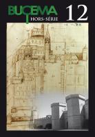 Dessin de l'abbaye Saint-Germain d'Auxerre et de ses remparts par Dom Cottron vers 1650 ; cliché de la porterie et de l'enceinte fortifiée de l'abbaye de Poblet