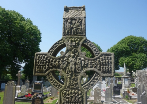 Fig. 7 – East face of the head of the early tenth century Muiredach's Cross, Monasterboice (Photo T. Ó Carragáin).