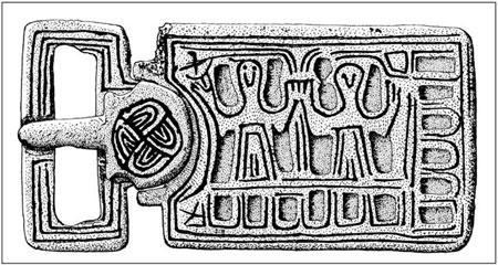 À propos de plaques-boucles mérovingiennes à motif chrétien 7bb8dfc820d