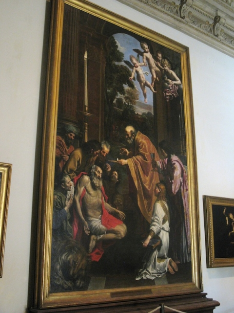 Fig. 12 Domenichino, Last Communion of St. Jerome, 1614, Pinacoteca, Vatican