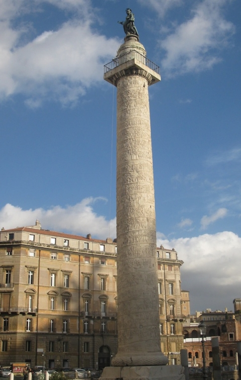 Fig. 13 Trajan's Column, 113 AD, Forum of Trajan, Rome