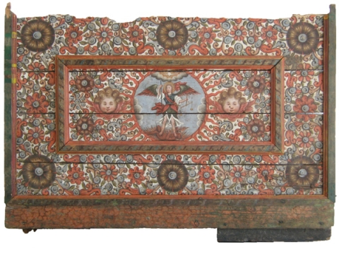Fig. 1 Wooden polychrome antependium of St. Michael's altar