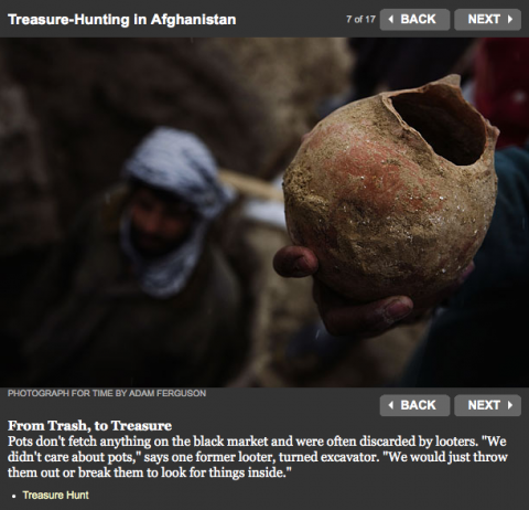 Fig.2 Treasure-Hunting in Afghanistan
