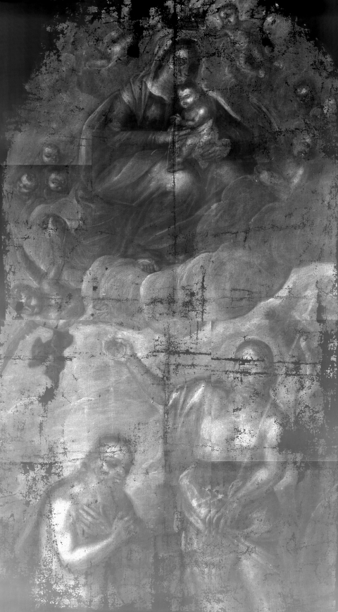 Fig. 3 Digital X-ray image of the Baptism of Christ and Our Lady of Mount Carmel