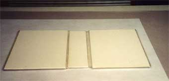 Illus. 8 Yapp edges being formed with the vacuum table