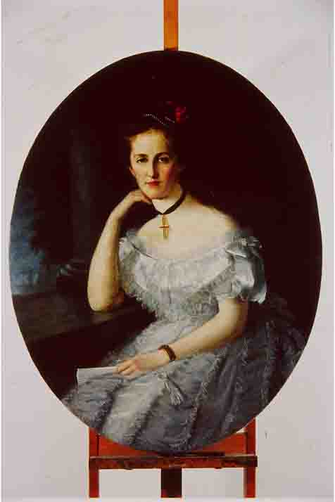 Fig. 5. Portrait of Young Lady by Juliusz Langer, 1874 (2)