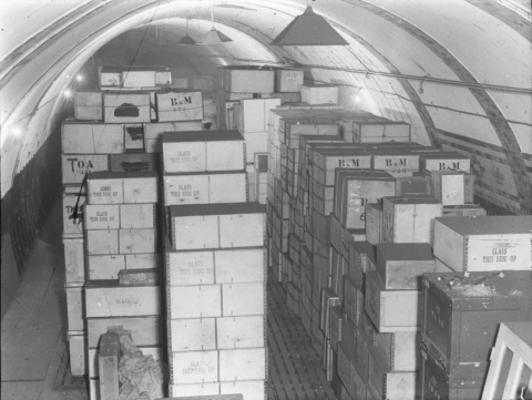 Fig. 8  British Museum's WWII storage in the Underground