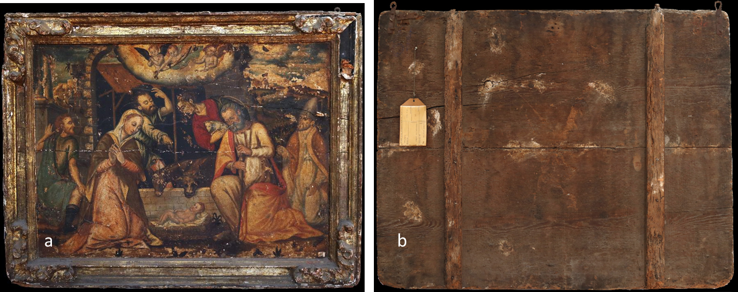The Restoration Of The Panel Painting Depicting The Adoration Of