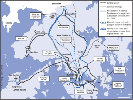 Hong Kong Current and Future Railway Network