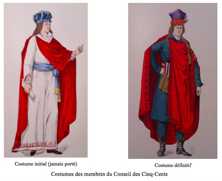 Costumes et vêtements sous le Directoire   signes politiques ou ... b66b2604d1a