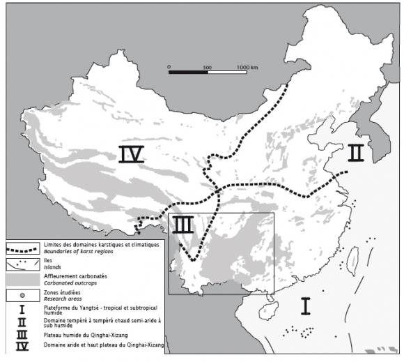 Carte La Chine Ath.Le Patrimoine Karstique De La Chine Du Sud Ouest Contexte