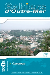 Couverture Cahiers d'Outre-Mer 259 - Cameroun