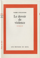 Couverture originale du Devoir de violence