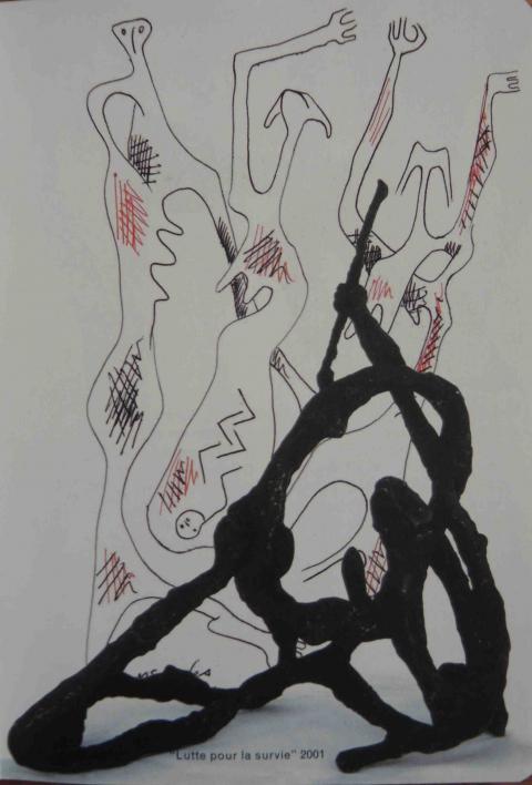 """Fig. 1 : """"Lutte pour la survie"""" 2001"""