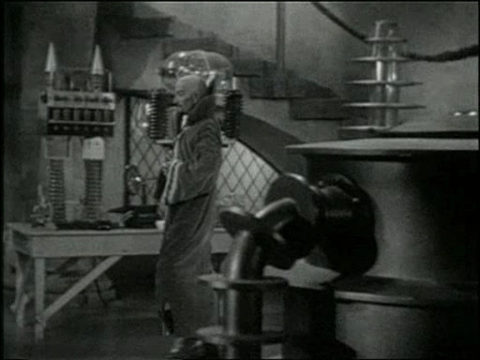 Deep space mise en scène, a rare device in a Hollywood film in 1936.