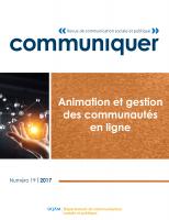 Animation et gestion des communautés en ligne