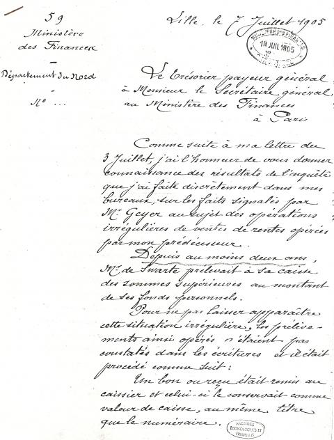 exemple lettre de moralité Les Comptabilités occultes du trésorier payeur général de Swarte exemple lettre de moralité