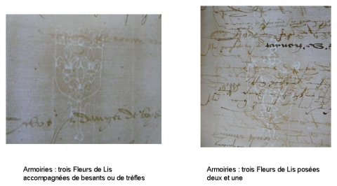 Fig. 6 : Les filigranes du registre A 106.