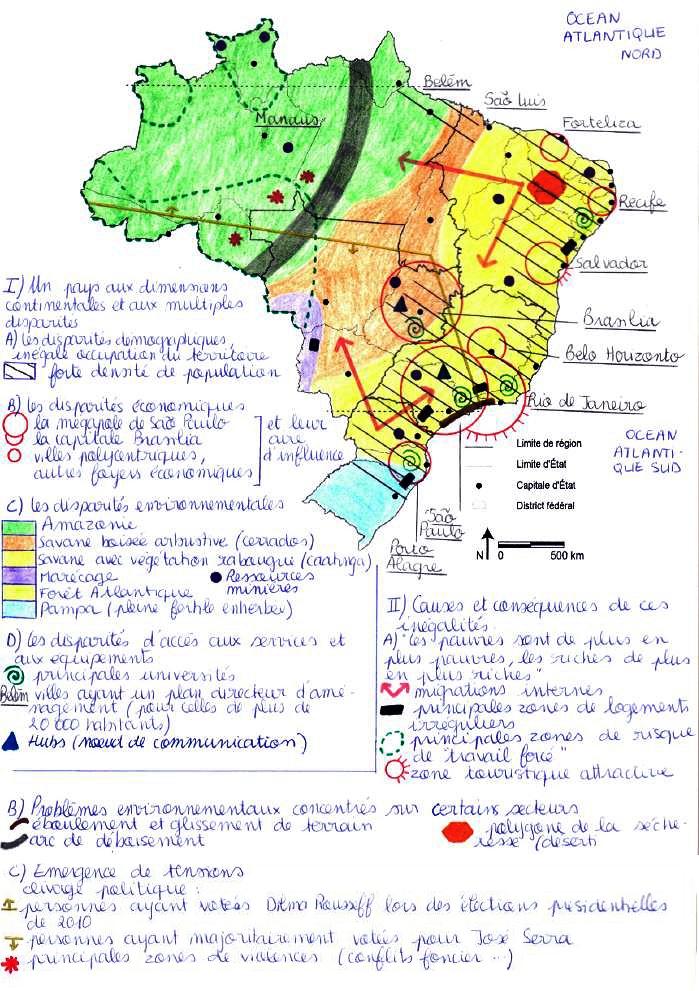 Carte Du Bresil Agriculture.Images Des Disparites Territoriales Au Bresil