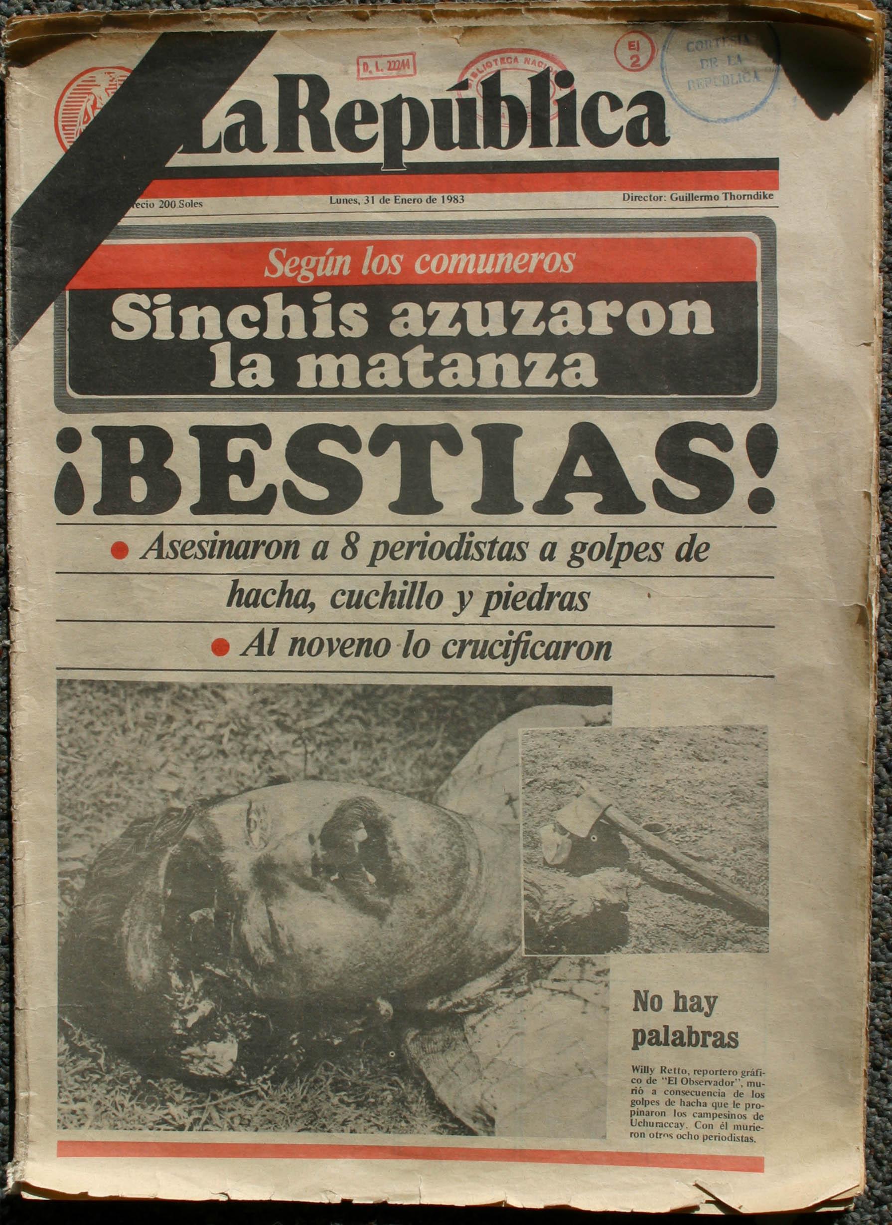 Memoria visual en el Perú: las fotografías del caso Uchuraccay