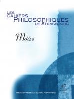 Couverture des Cahiers philosophiques de Strasbourg, n°47 | 2020, Moïse