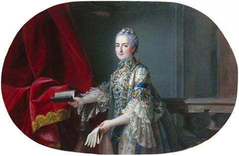 Fig.12: Jean-Martial Frédou, d'après François-Hubert Drouais, Louise-Marie deFrance, dite Madame Louise (1737-1787), huile sur toile, 1,09× 1,52m. Versailles, musée national des châteaux de Versailles et de Trianon, MV2183.