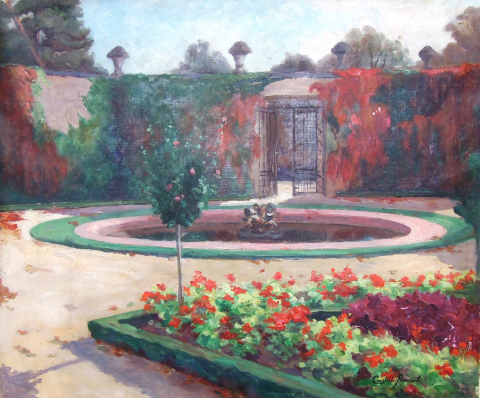 Fig. 16 : Camille Prouvost, Jardin du Roi, Grand Trianon, vers 1910. Collection particulière.