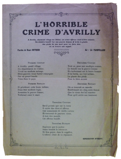 Doc. 13 Le crime d'Avrilly (1928)