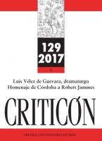 Couverture Criticón n° 129, 2017