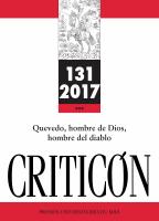 Couverture Criticón n° 131, 2017