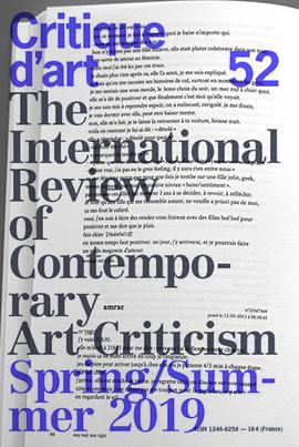 Image result for critique d'art 2019
