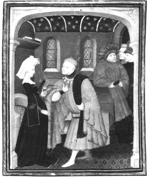 Fig. 16. The Duke of True Lovers comes to ask Christine to write his story