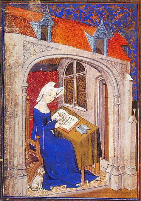 Fig. 2. Christine in her study