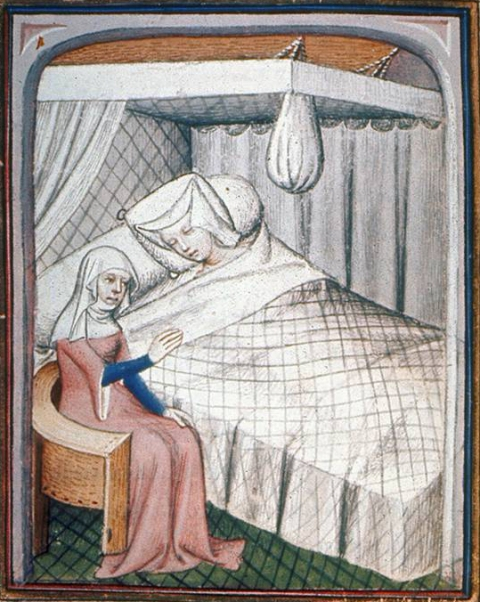 Fig. 5. The Cumean Sibyl at Christine's bedside