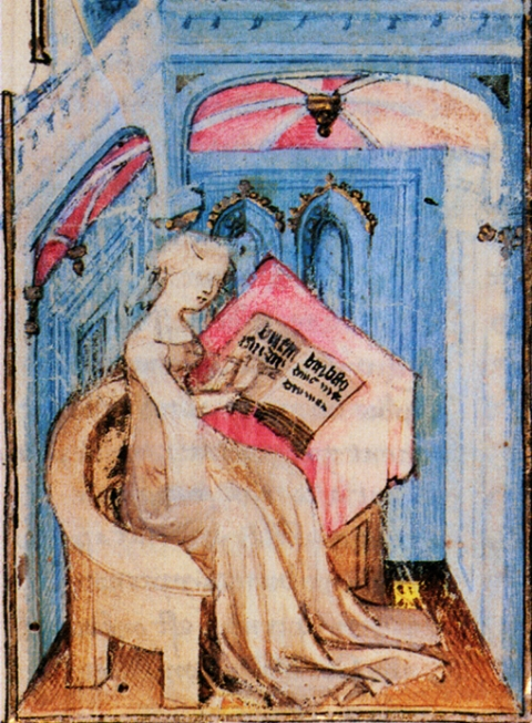 Fig. 8. Christine in her study