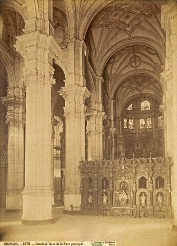 Illustration 2—Interior of the Granada Cathedral in 1881. J. Laurent (1816–1886).
