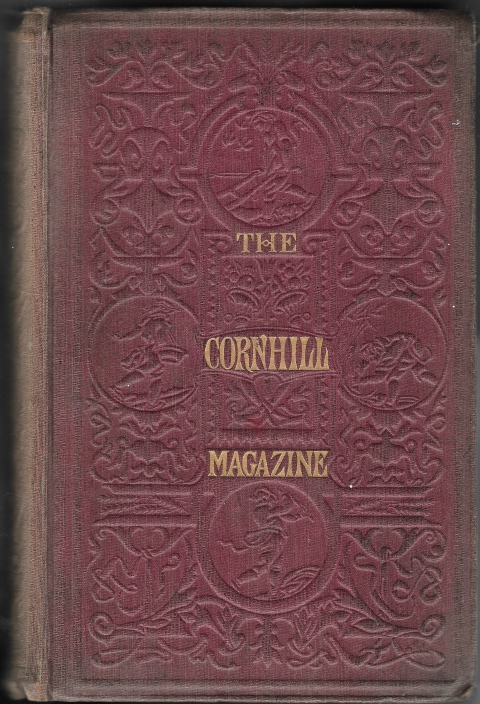 Fig. 4. The bound version of the Cornhill Magazine. Sykes's original design is reproduced in blind on embossed red cloth.