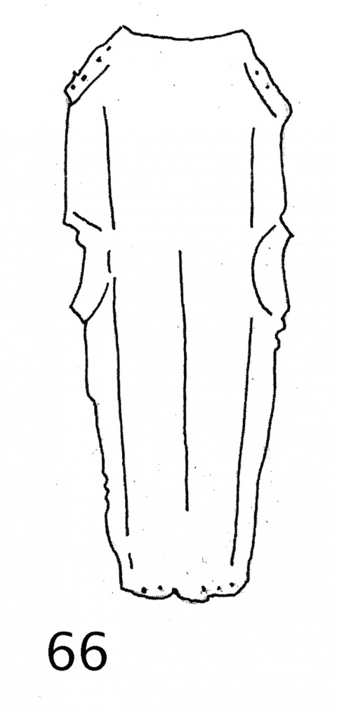 Fig. 66. Chamfron (simplified), Mamlūk Egypt or Syria, 15th century AD (Askeri Muzesi, inv. 5710, Istanbul).