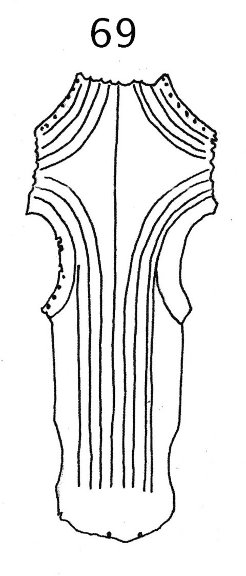 Fig. 69. Chamfron (simplified), Mamlūk Egypt or Syria, AD 1468–95 (Askeri Muzesi, inv. 178/2, Istanbul).
