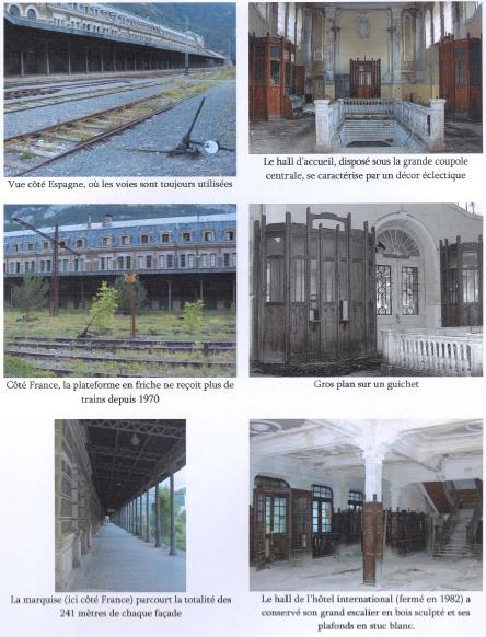 2bfb2405d6d Planche photo n° 1   Le bâtiment voyageurs de la gare de Canfranc en août
