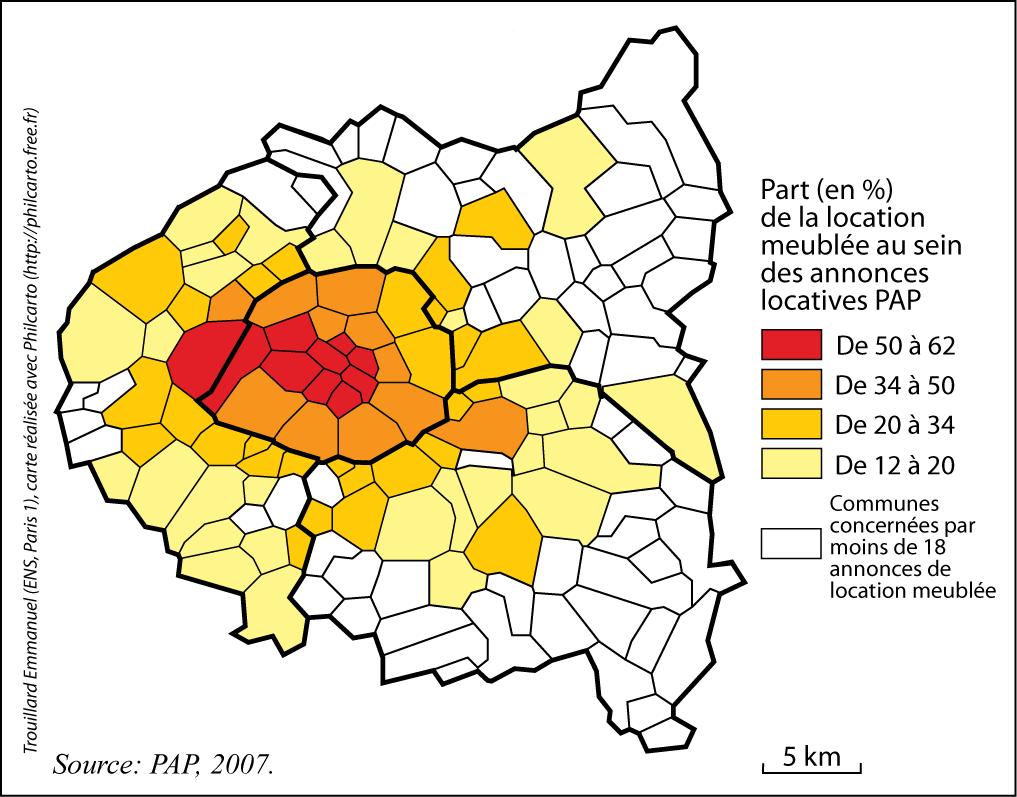La Location Meublee A Paris Et En Petite Couronne Metamorphoses D Un Statut D Occupation