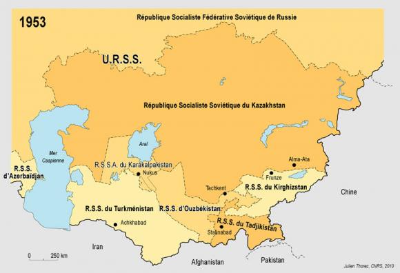 carte géographique d asie centrale