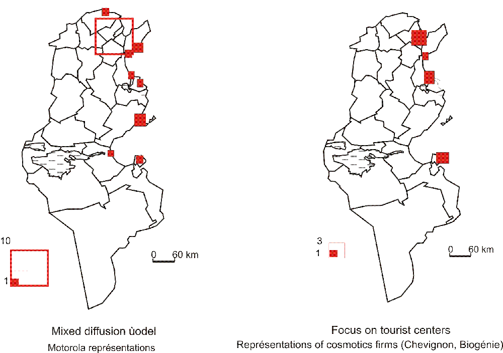 The Spatial Influence Of Tunisian Cities Via The Diffusion Of