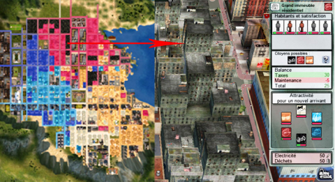 Fig. 4: Urban segregation in City Life (2006)