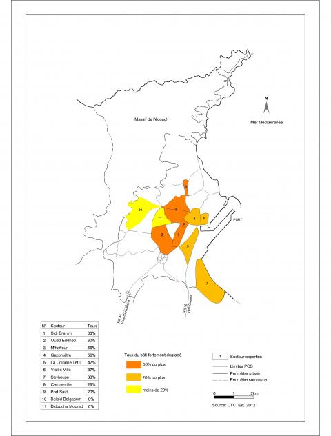 le renouvellement de la ville alg rienne par la d molition Vendor Analyst Resume Samples carte 3 taux du vieux b ti fortement d grad dans les secteurs expertis s annaba