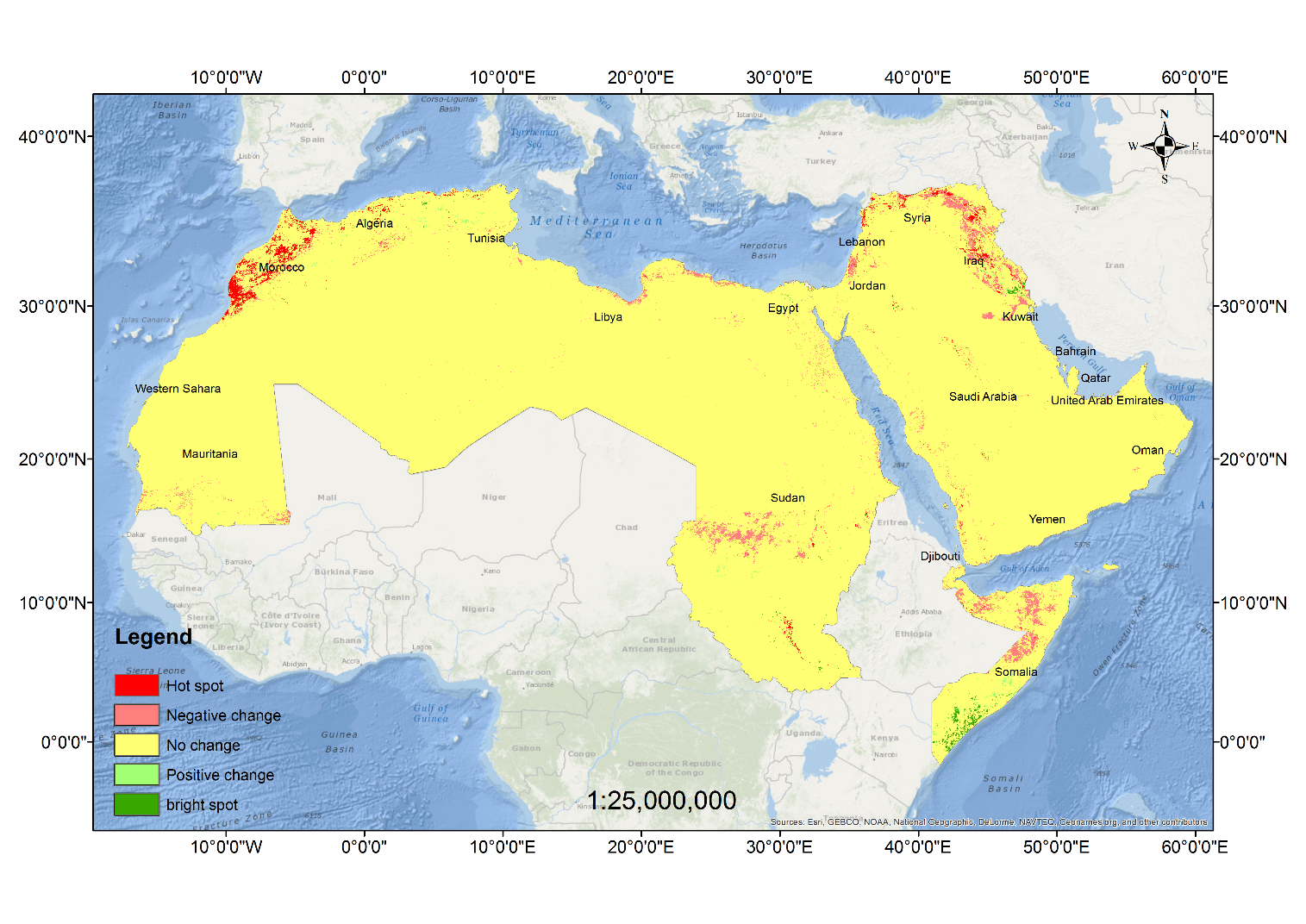 Detecting Changes in Vegetation Trends in the Middle East and North ...