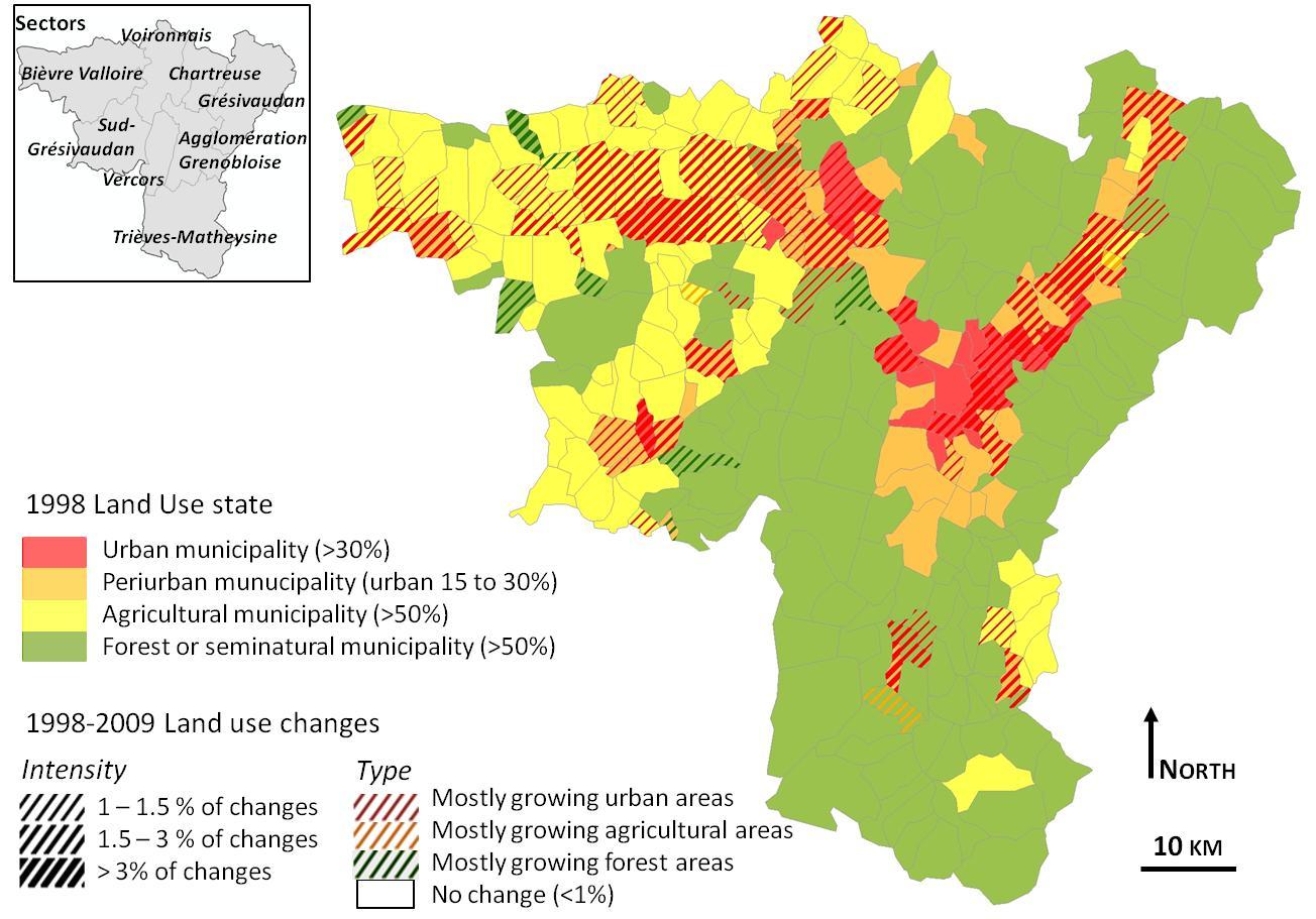 Patterns Of Landscape Change In A Rapidly Urbanizing Mountain Region