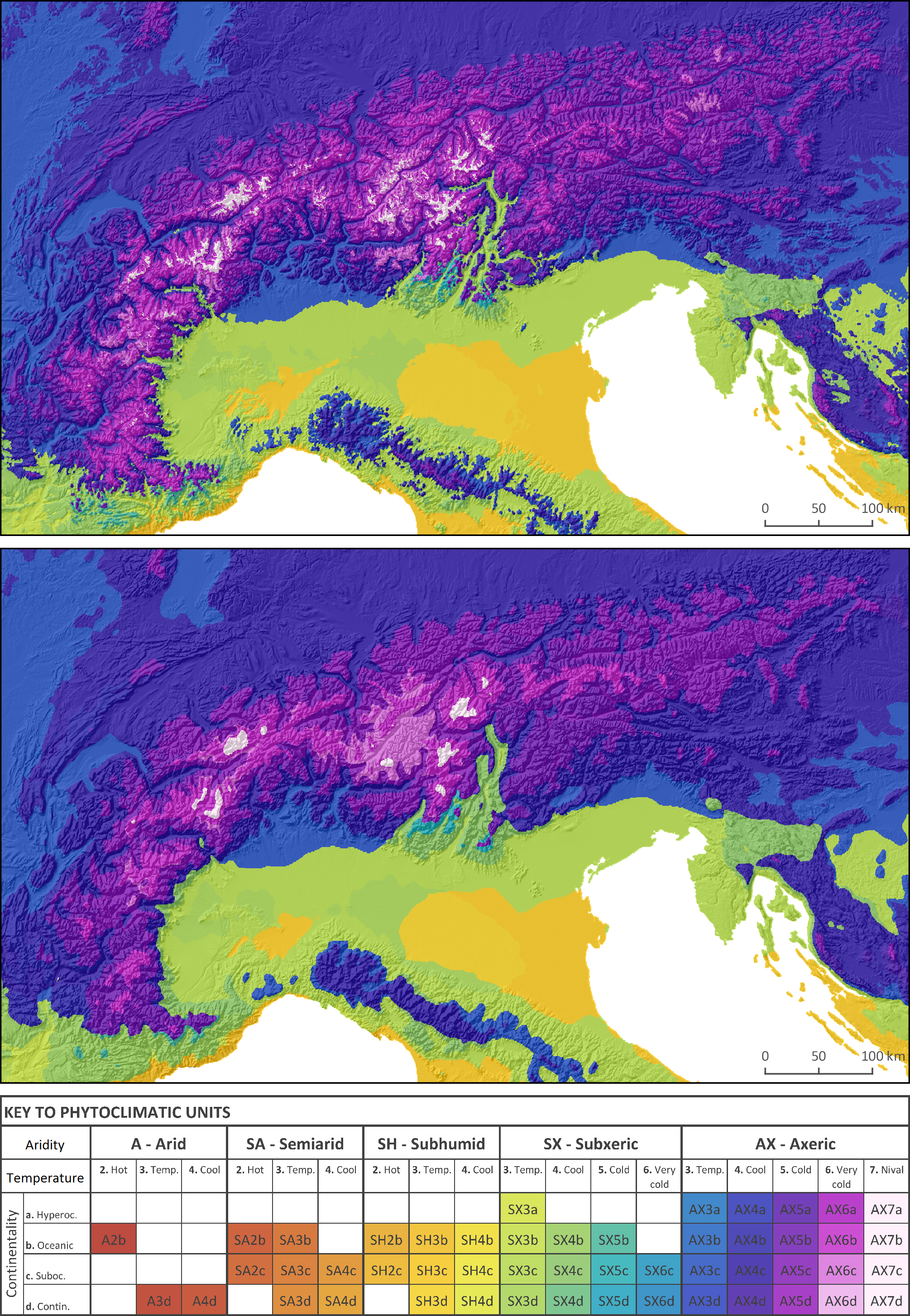 Carte De Leurope Meteo.A Phytoclimatic Map Of Europe